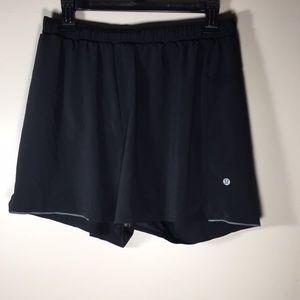 Lululemon Running Shorts mens lined Black L